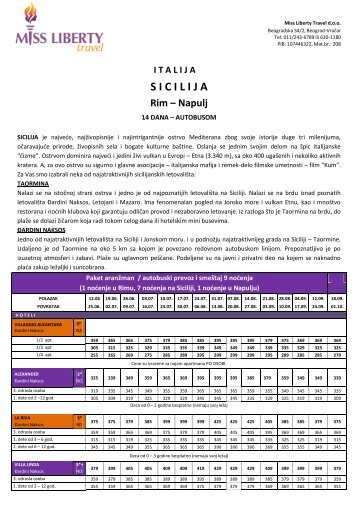 Cenovnik - missliberty.rs