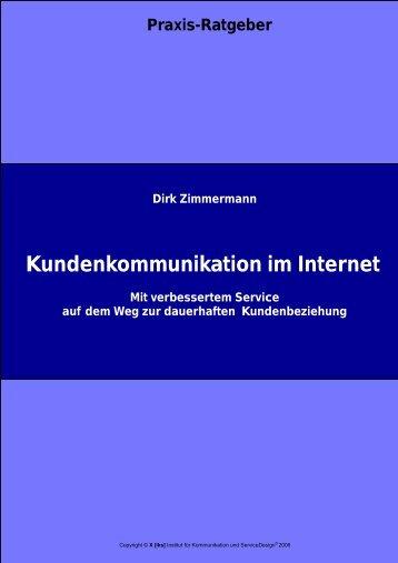 Kundenkommunikation im Internet - [iks] Institut für Kommunikation ...