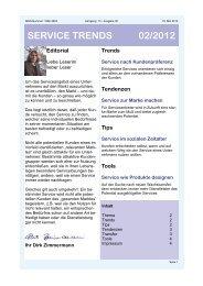 service trends 02/2012 - [iks] Institut für Kommunikation und ...
