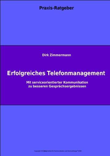 Erfolgreiches Telefonmanagement - [iks] Institut für Kommunikation ...