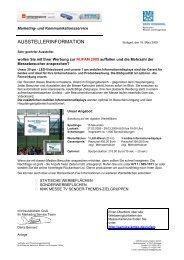 ausstellerinformation - Angebote - Karlsruher Messe- und Kongress ...