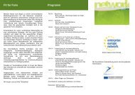 Fit for Fairs Programm - Messe Focus