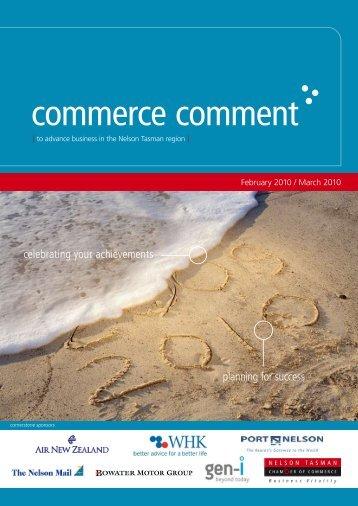 Commerce Comment February/March 2010 - Nelson Tasman ...