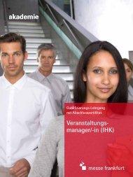Veranstaltungs- manager/-in (IHK) - Akademie Messe Frankfurt