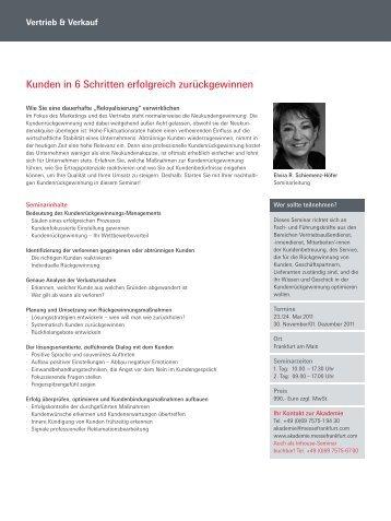 Kunden in 6 Schritten erfolgreich zurückgewinnen - Akademie ...