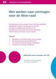 Wet werken naar vermogen voor de Wsw-raad - Stichting CliP
