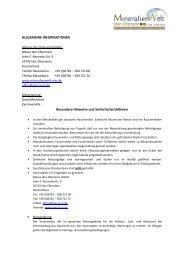 Allgemeine Informationen - mineralienwelt-mio.de