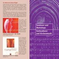Seminare und Workshops Gottesdienst und Kirchenmusik
