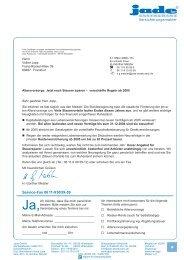 Mailing Jade Assekuranz Frühjahr 2008 - PUBL!COM PR und ...