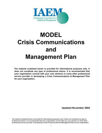 hcs 350 week 5 crisis management Personal and professional health care communication hcs 350 week 5 dqs hcs 350 week 5 crisis management communication de crise is the property of.