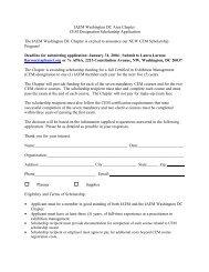 Page 1 IAEM Washington DC Area Chapter CEM Designation ...