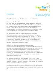 15.03.2012 Presseinformation - Haustiermesse-hamburg.de