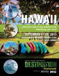 to see Sponsorship Opportunities for Destination Hawaii 2013