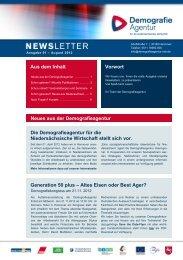 Newsletter Ausgabe 01 - August 2012 - Niedersachsen Metall