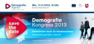 Save the date: Demografiekongress 2013 - BNW