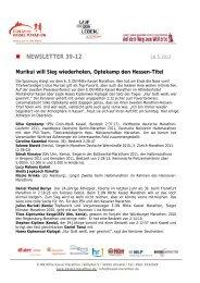 NEWSLETTER 39-12 - Kassel Marathon