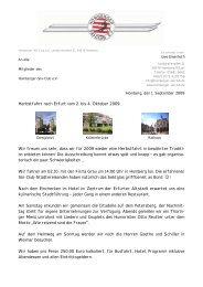 Herbstfahrt nach Erfurt vom 2. bis 4. Oktober 2009 Wir freuen uns ...