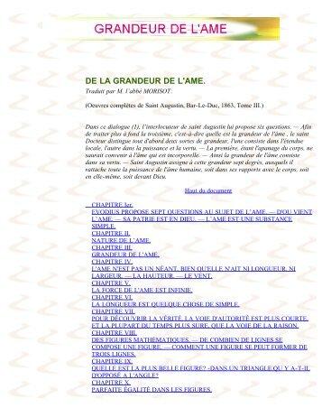 GRANDEUR DE L'AME - La Porte Latine