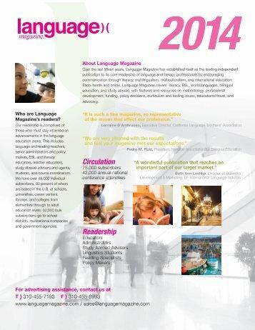Download the Language Magazine Media Kit (Adobe PDF)