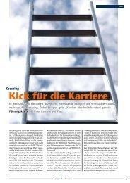 Gastgewerbemagazin Februar 2007 Coaching - Kick für die Karriere
