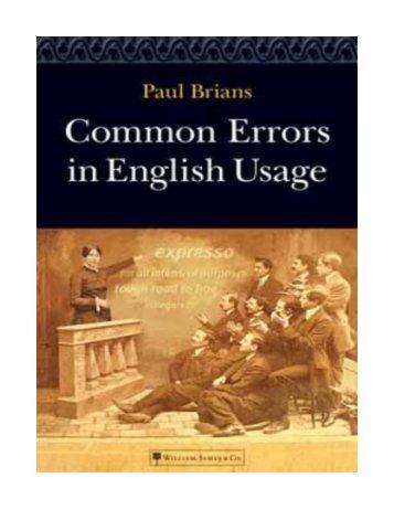 Common_Errors_in_English_usage