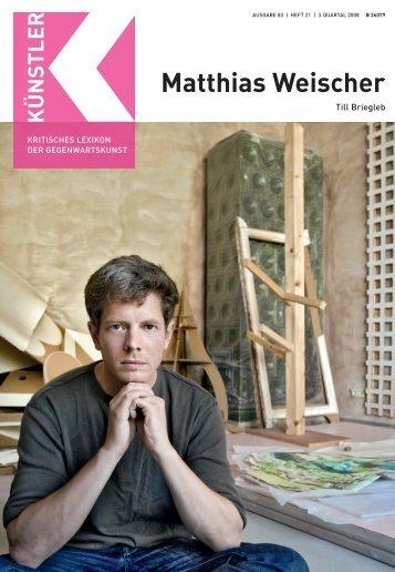 Matthias Weischer - Zeit Kunstverlag