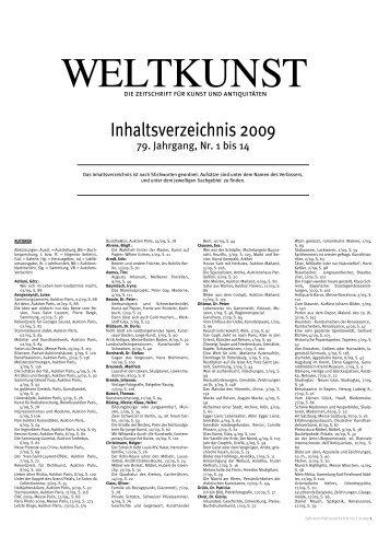 WELTKUNST - Zeit Kunstverlag
