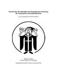 Bericht über die Aktivitäten der Studentischen Vertretung der ...