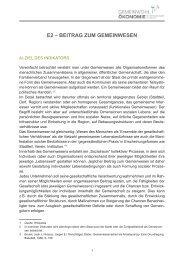E2 – BEITRAG ZUM GEMEINWESEN - Christian Rüther