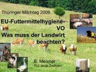 EU-Futtermittelhygiene- VO Was muss der Landwirt beachten?