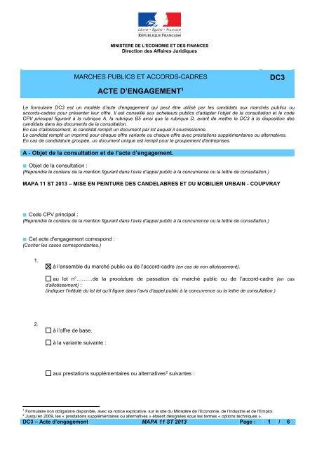 DENGAGEMENT DC3 ACTE TÉLÉCHARGER