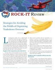 Strategies for Avoiding the Pitfalls of Organizing ... - Rock-It Cargo