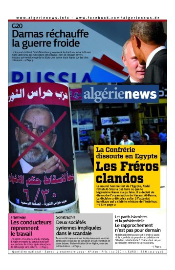 Fr-07-09-2013 - Algérie news quotidien national d'information
