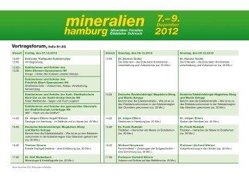 Programm - Mineralien Hamburg