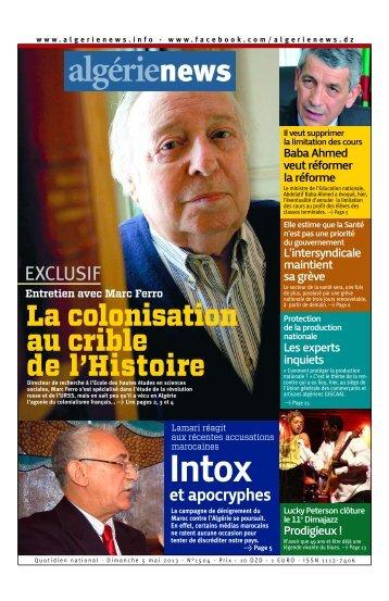 Fr-05-04-2013 - Algérie news quotidien national d'information