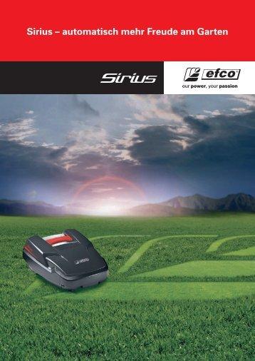 Sirius – DER RASENMÄHROBOTER von EFCO  - Infobroschüre