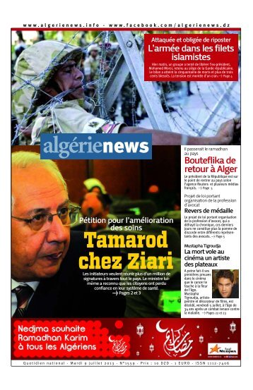Fr-09-07-2013 - Algérie news quotidien national d'information