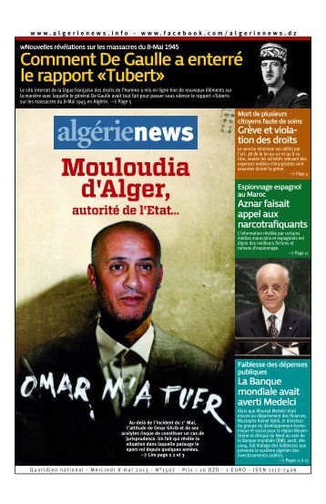 Fr-08-05-2013 - Algérie news quotidien national d'information