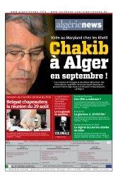 Fr-25-08-2013 - Algérie news quotidien national d'information