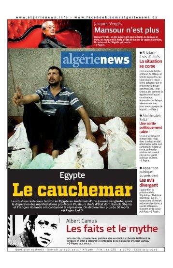 Fr-17-08-2013 - Algérie news quotidien national d'information