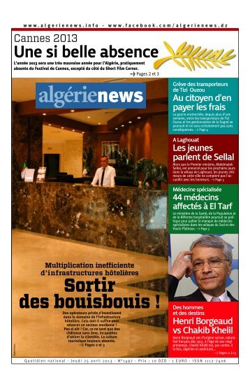 Fr-25-04-2013 - Algérie news quotidien national d'information
