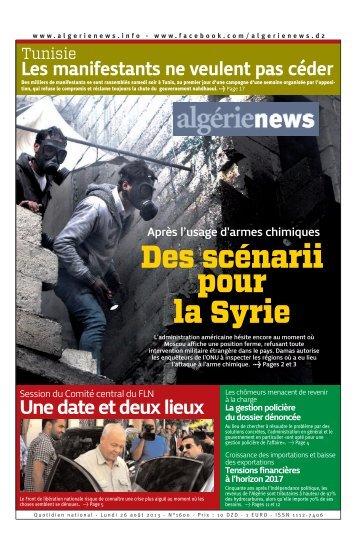 Fr-26-08-2013 - Algérie news quotidien national d'information