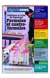 Fr-27-05-2013 - Algérie news quotidien national d'information
