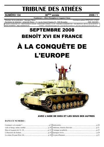 N° 134 2008/1 - Union des Athées - Free