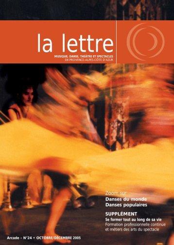 La lettre n¡24 - Arcade Provence-Alpes-Côte d'Azur - Arcade PACA