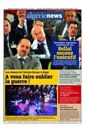 Fr-27-06-2013 - Algérie news quotidien national d'information