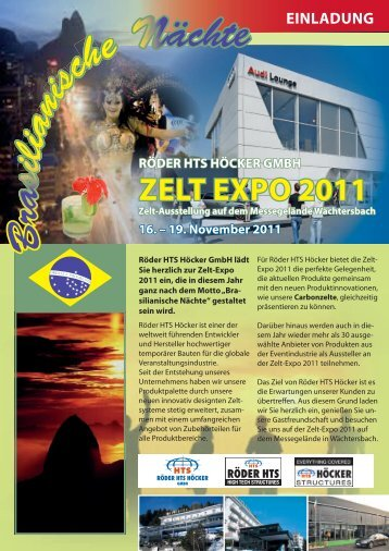 ZELT EXPO 2011 - Röder HTS Höcker GmbH
