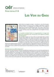 Focus sur Les voix du Gaou - Arcade PACA
