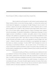 Introduction Socio des marchés - pierrefrancois