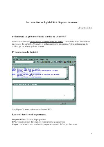 Introduction au logiciel SAS. Support de cours ... - pierrefrancois